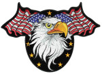 American flags and eagle biker patch
