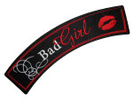 Bad girl with lips rocker patch