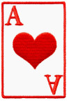 ace of hearts playing cards biker patch