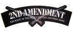 2nd amendment gun rights rocker patch