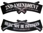 2nd amendment rocker biker patch