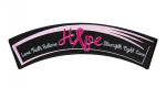 Breast cancer pink ribbon rocker patch