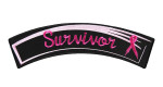 Breast cancer survivor ladies rocker patch