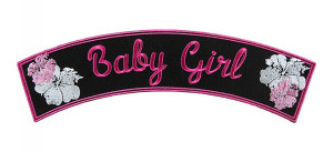 Baby girl ladies rocker patch