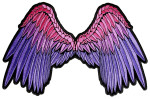 Angel wings lady rider biker patch