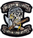 Dead men tell no tales pirate skull patch