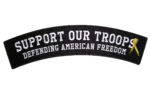 Support our troops rocker patch
