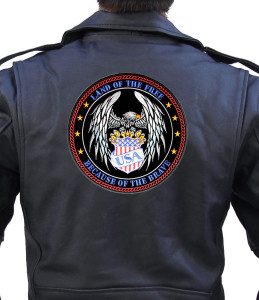 Military heroes biker patch