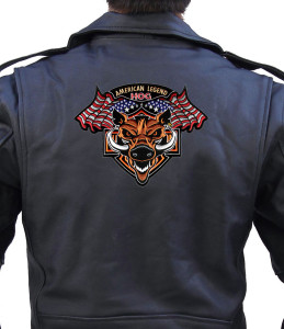 Wild boar biker patch