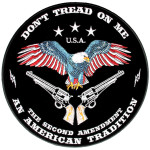 Don't tread on me biker patch
