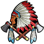 Native Indian chief head patch