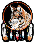 Wolf Indian dream catcher patch