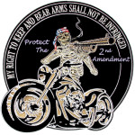 gun rights biker patch