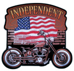 Independent motorcycle biker patch