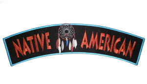 Native Indian dream catcher rocker patch