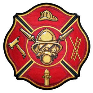 Maltese cross fire fighter patch