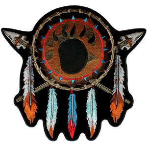 Native American Indian feathers design patch