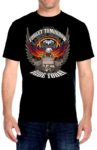 Forget tomorrow ride today eagle biker shirt