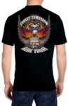 Flaming eagle motorcycle biker shirt