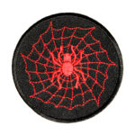 Red spider on spiderweb patch