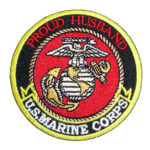 Proud husband US Marines patch