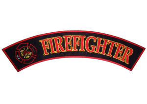 Fireman with Maltese cross rocker patch