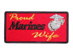 Proud Marines wife patch