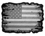 Subdued distressed American flag patch