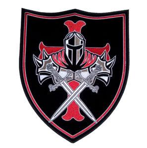 Templar knight shield patch