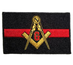 Thin red line Masonic patch
