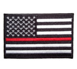American flag thin red line patch