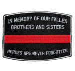 red line heroes firefighter patch