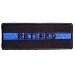 Retired thin blue line patch
