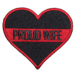 Proud wife in red heart patch