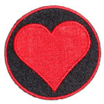 Playing card heart symbol patch
