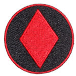 Red diamond symbol card patch