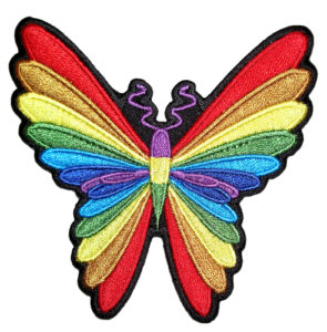 Multi-colored butterfly patch