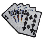 Royal flush playing cards patch