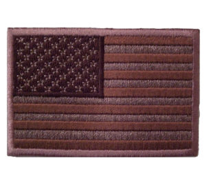 Brown American flag patch