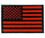 Red American flag patch