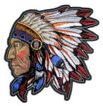 Native American Indian chief headdress patch