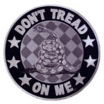 Reflective don't tread on me patch