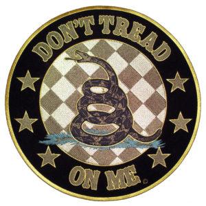 Don't tread on me Gadsden snake patch