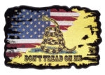 Gadsden snake and American flag patch
