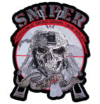 Patriotic sniper skull military patch