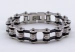 Woman's biker chain bracelet jewelry