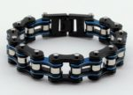 unisex blue/black biker bracelet jewelry