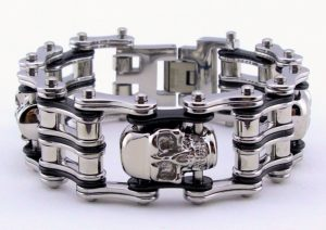 mens skull motorcycle chain jewelry