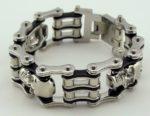 mens skull biker chain bracelet jewelry