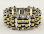 unisex motorcycles chain bracelet with rollers